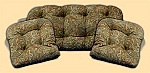 3 Piece Outdoor Replacement Cushion Set Elana Chocolate
