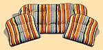 3 Piece Outdoor Replacement Cushion Set Grdn Pl Stripe Multi Ti