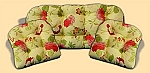 3 Piece Outdoor Replacement Cushion Set Risa Lemonade