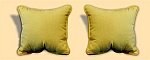 Indoor/Outdoor Sunburst Canary Pillows Pair Of Two