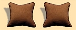 Indoor/Outdoor Sunburst Choc Pillows Pair Of Two