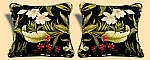 Indoor/Outdoor Wailea Coast Ebony Pillows Pair Of Two