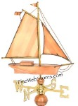 Large Sloop Weather Vane