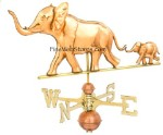 Elephant With Baby Three Dimensional Polished Weather Vane