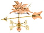 Flying Pig Cottage Size Three Dimensional Weather Vane