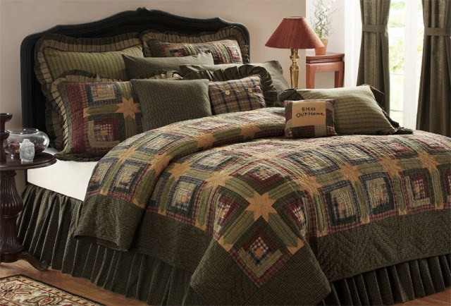 Tea Cabin Quilt and Matching Textiles from Victorian Heart