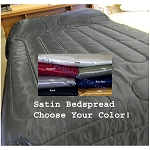 Full XL Bedding Satin Comforter