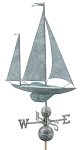 Large Sailboat Weathervane Patina Finish