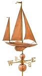 Large Sailboat Weathervane