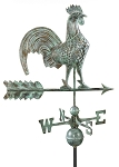 Rooster Weathervane Patina Finish