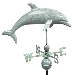Dolphin Weathervane Patina Finish