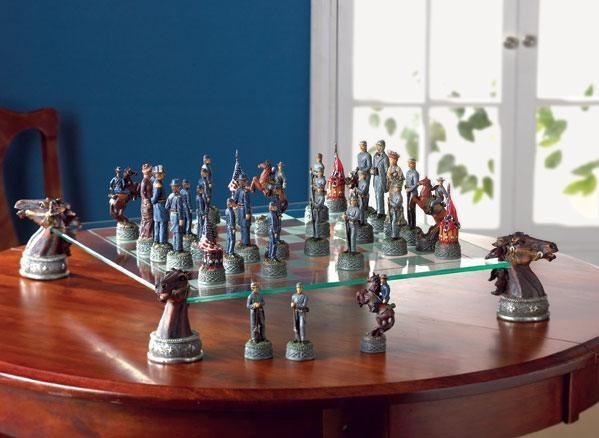 Deluxe civil war chess set - Deluxe chess sets ...
