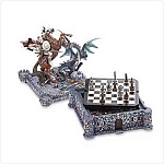 Knight and Dragon Castle Battle Chess Set