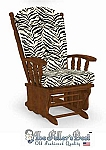Replacement Glider Rocker Cushion Set Zebra Print Larger Size
