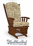Replacement Glider Rocker Cushion Set Brown Zebra Print