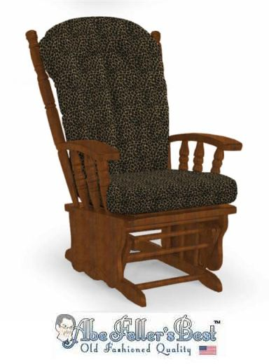 Replacement Glider Rocker Cushion Set Leopard Print