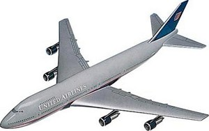 B777-200 United Small Commercial Aircraft Model