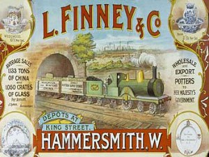 L.Finney & Co. Exports Vintage Metal Sign