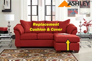 Ashley® Darcy replacement chaise cushion and cover, 7500118 Salsa