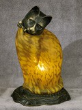 Cat Figural Resin Lamp 11.5 inches High