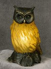 Owl Figural Resin Lamp 9.5 inches High
