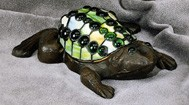Frog Figural Resin Lamp 9 inches Width x 10 inches Long