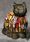 Multi-Colored Cat Figural Resin Lamp 9 inches High