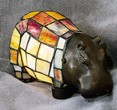 Hippo Figural Resin Lamp 5 inches High x 9 inches Long
