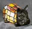 Bulldog Figural Resin Lamp 5 inches High x 9.5 inches Long