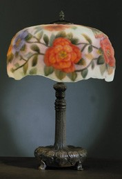 Floral Puffy Style Lamp 26 inches High x 16 inches Diameter