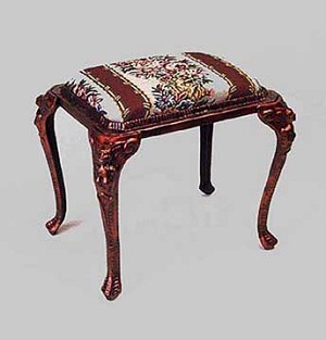 Cast Iron Tapestry Footstool with Copper Finish