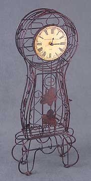 Metal Wire Case Clock