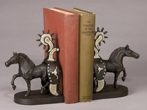 Horse and Spur Bookends
