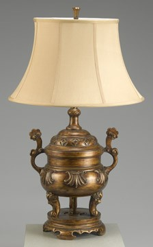 Traditional Antique Bronze Finish Lamp 32 inches High x 19 inches Diameter