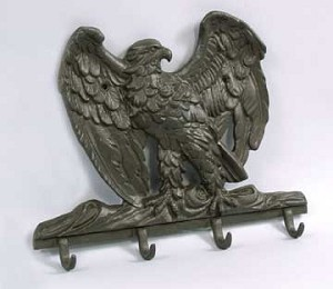 Black Cast Iron Eagle Coat Hook Pair
