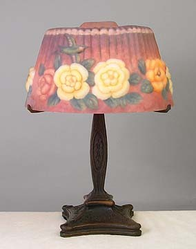 Floral Puffy Style Lamp 20 inches High x 14 inches Diameter