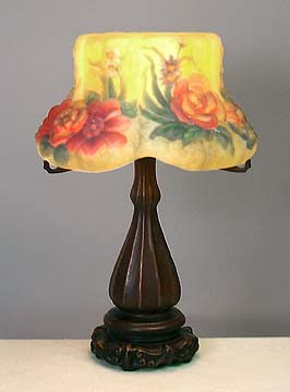 Floral Puffy Style Lamp 18 inches High x 12 inches Diameter