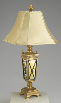 Lamp with Brass Finish Base 33 inches High x 17 inches Diameter