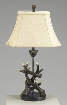 Deer Antlers Table Lamp 25 inches High x 14.25 inches Diameter