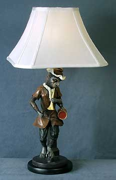 Monkey Man Table Lamp 24 inches High x 13 inches Diameter