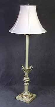 Pineapple Base Buffet Lamp 34.5 inches High x 13 inches Diameter