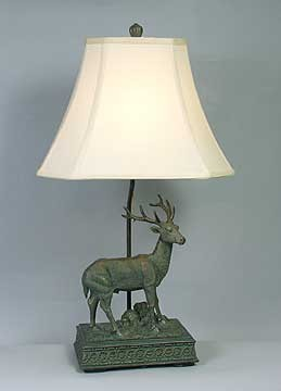 Deer Hunter Table Lamp 25.5 inches High x 15 inches Diameter