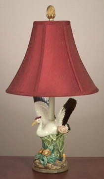 Flying Crane Table Lamp 24 inches High x 13 inches Diameter
