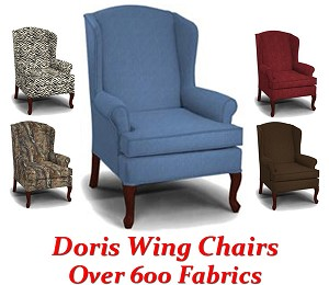 Doris Queen Anne Wing Back Chair