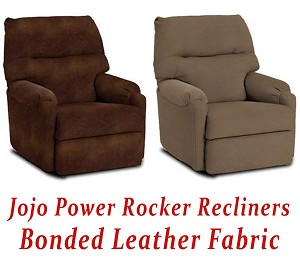 Jojo Power Rocker Recliner in Bonded Leather