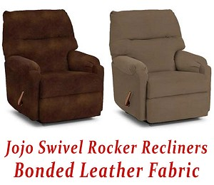 Jojo Swivel Rocker Recliner in Bonded Leather