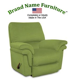 Green Leather Recliner Bonded Rocker