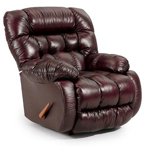 Plusher Power Rocker Recliner in Leather-Vinyl Match
