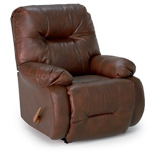 Brinley Power Wallhugger Recliner in Leather-Vinyl Match