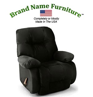 Black Leather Recliner Bonded Wallhugger